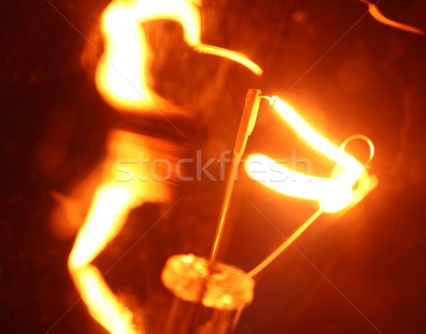 Tungsteno lampadina fuoco abstract velocità Foto d'archivio © janaka