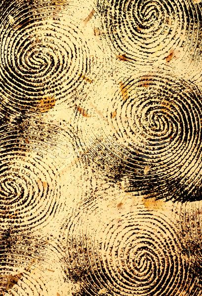большой палец руки печать тесные прессы шаблон посмотреть Сток-фото © janaka