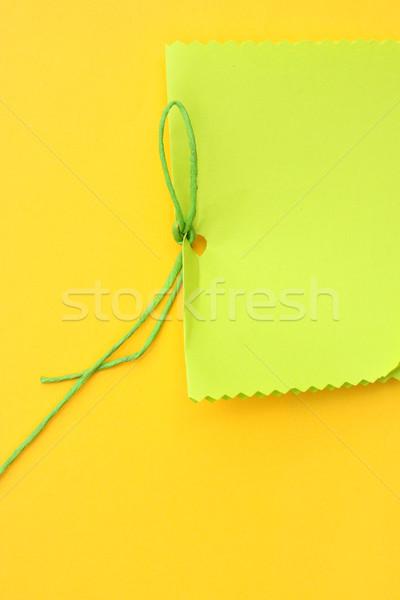 Paper tag Stock photo © janaka