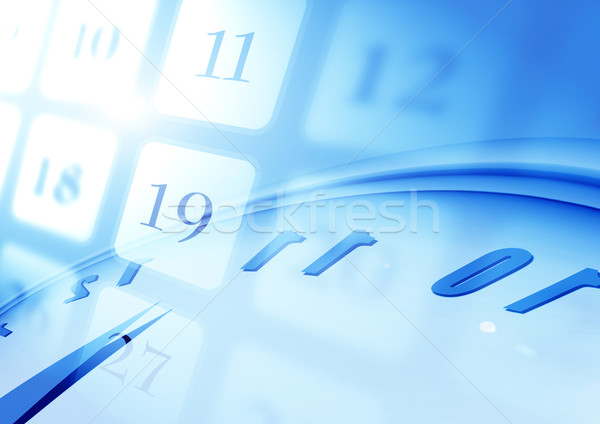 Calendario carta tempo futuro diario Foto d'archivio © janaka