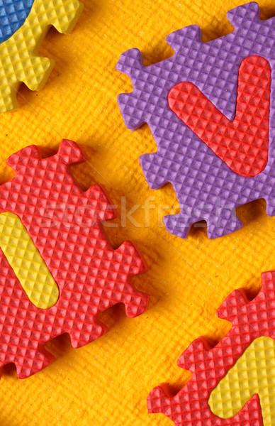 алфавит номера стиль числа блоки Сток-фото © janaka