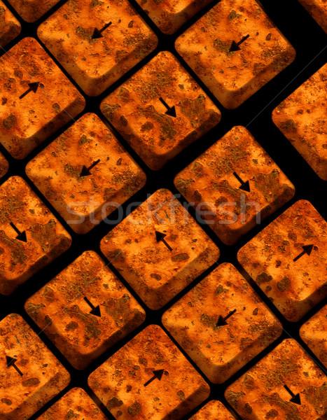 Computer sleutels abstract internet brief Stockfoto © janaka