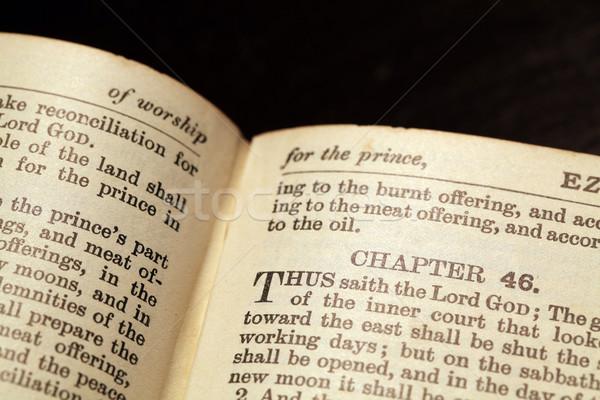 Szent Biblia közelkép húsvét könyv Jézus Stock fotó © janaka