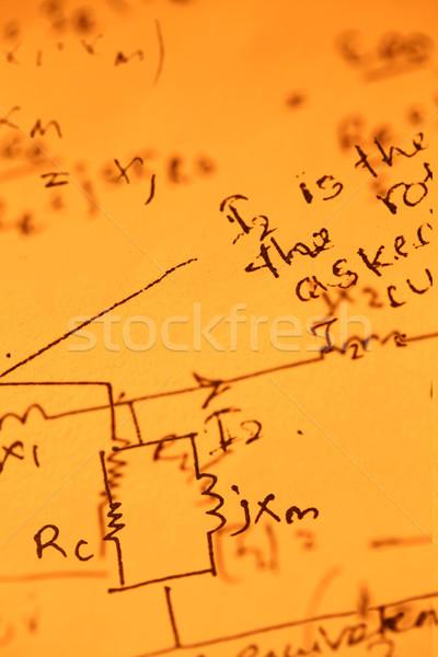 Mathematical text Stock photo © janaka