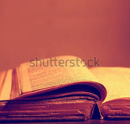 Libro viejo historia biblioteca textura libro Foto stock © janaka