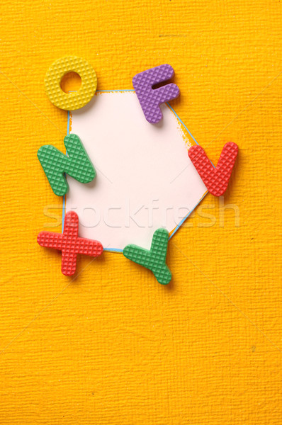 Alfabet nummers stijl gekleurd aantal blokken Stockfoto © janaka