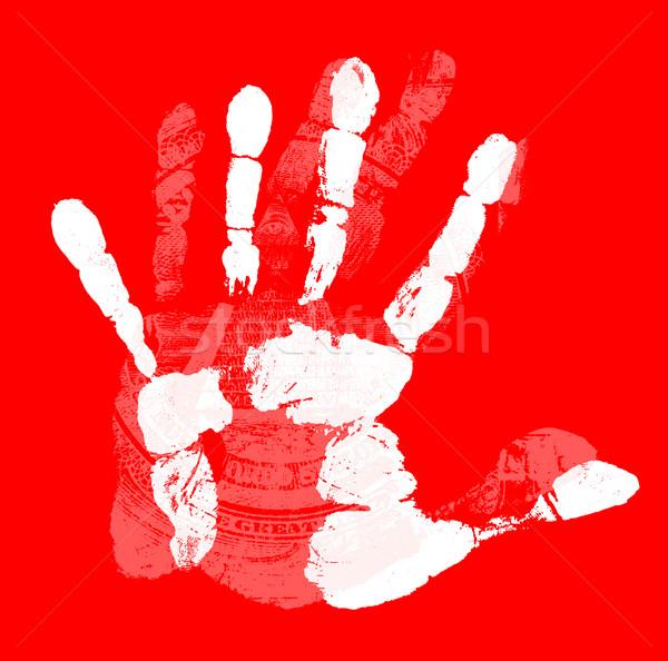 Kéz lenyomat emberi kéz egyedi részletek férfi Stock fotó © janaka
