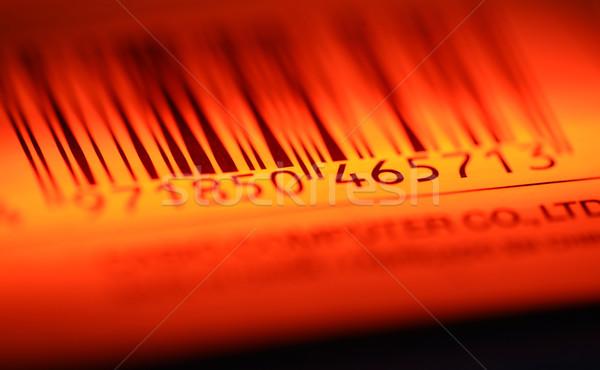 Streepjescode label papier business markt Stockfoto © janaka