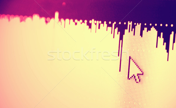 Web Icon on LED screen Stock photo © janaka