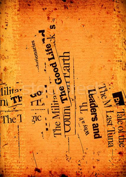 News paper texts Stock photo © janaka