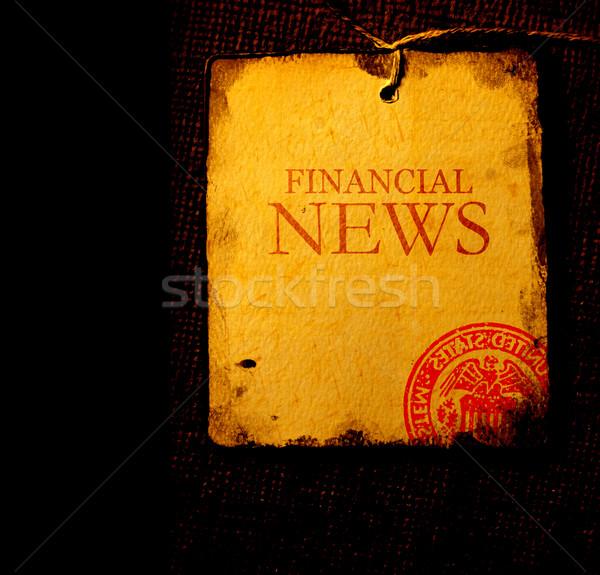 Notícia papel velho folha palavra escritório Foto stock © janaka