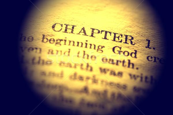 Szent Biblia közelkép öreg könyv Jézus Stock fotó © janaka