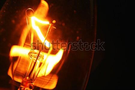 Stock fotó: Volfrám · villanykörte · közelkép · tűz · absztrakt · sebesség