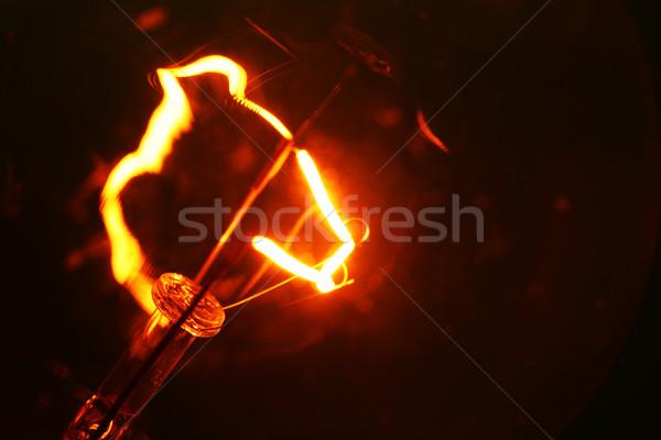 タングステン 電球 火災 抽象的な 速度 ストックフォト © janaka