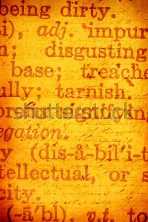 Wetenschap boek grunge school notebook Stockfoto © janaka