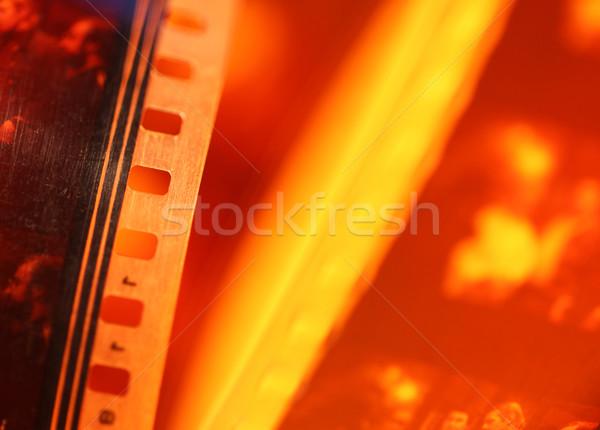 öreg 35mm film közelkép filmszalag művészet Stock fotó © janaka