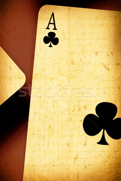 Aces gráfico papel mão abstrato Foto stock © janaka