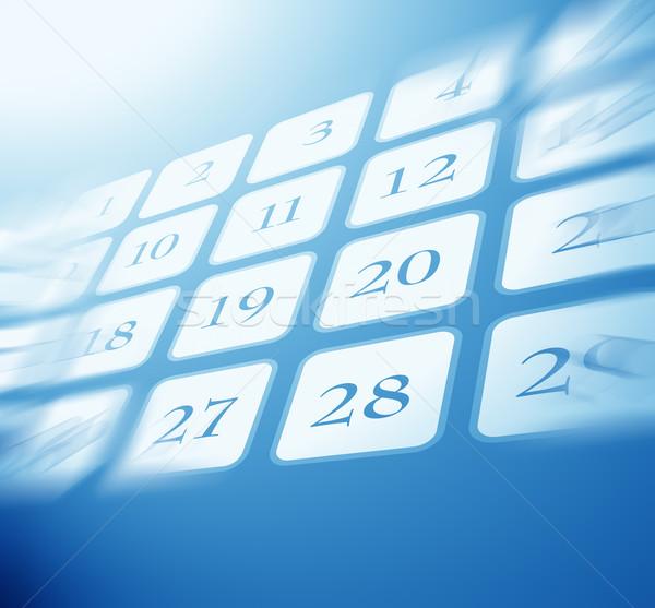Kalender omhoog digitale kunst tijd datum Stockfoto © janaka