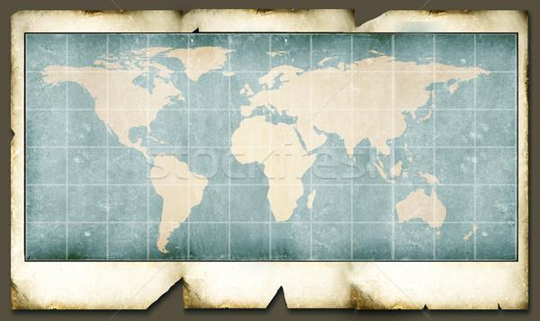 Foto stock: Vintage · mapa · do · mundo · mundo · digital · arte · papel