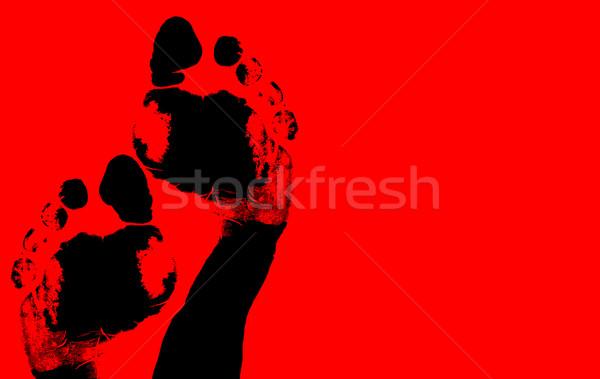 Stock photo: Foot print