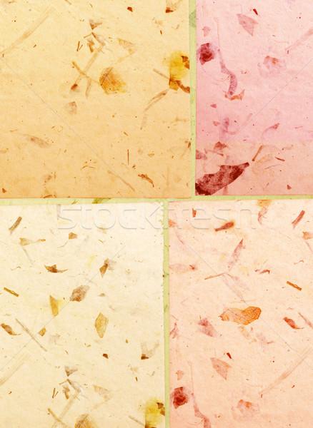 Kézzel készített papír közelkép textúra absztrakt természet Stock fotó © janaka
