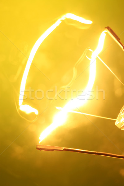 Wolfraam lamp brand abstract snelheid Stockfoto © janaka