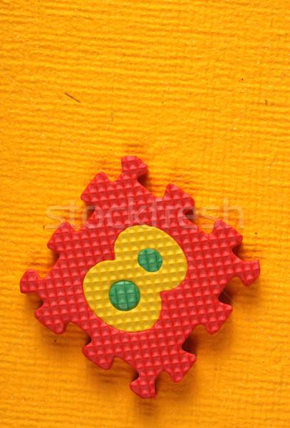 ábécé számok stílus színes szám kockák Stock fotó © janaka