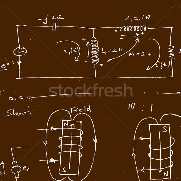 Matemático ciencia estudio clase información Foto stock © janaka