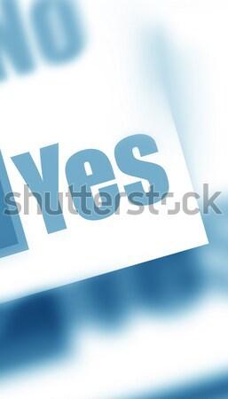 Ja papier vel woord kantoor Stockfoto © janaka