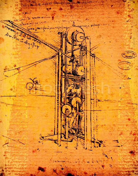 Leonardo's  engineering Stock photo © janaka