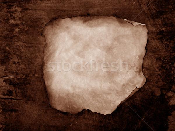 Régi papír közelkép textúra absztrakt háttér klasszikus Stock fotó © janaka