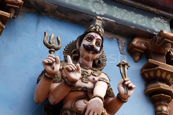 Tanrı heykel seyahat taş mimari dua Stok fotoğraf © janaka
