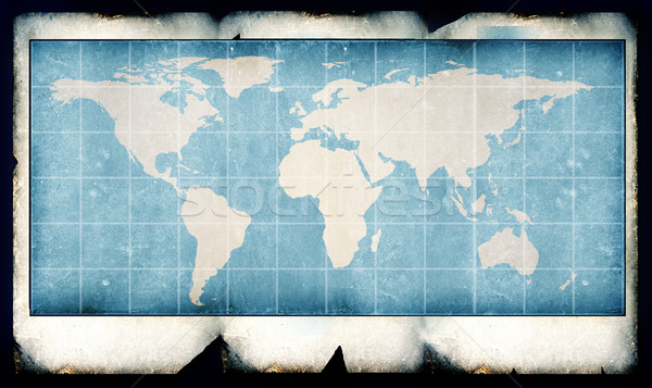 Foto stock: Vintage · mapa · do · mundo · mundo · digital · arte · papel