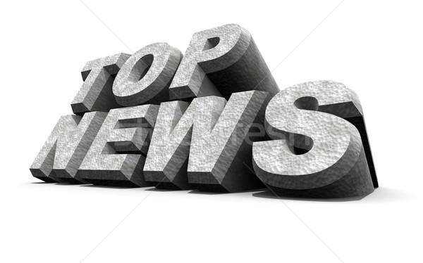 Foto stock: Noticias · palabra · 3D · gráfico · comunicación · prensa