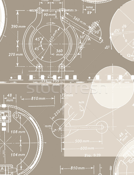 Wiskundig engineering papier textuur school Stockfoto © janaka