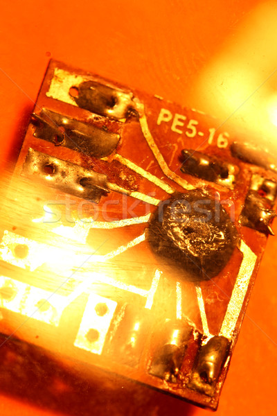 Circuit board elektronische internet industrie wetenschap Stockfoto © janaka