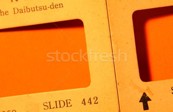 Deslizar velho filme textura arte preto Foto stock © janaka