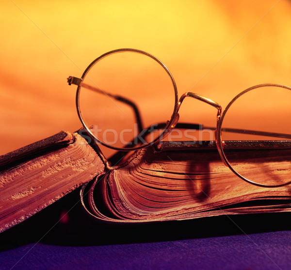 Oud boek geschiedenis bibliotheek textuur boek Stockfoto © janaka