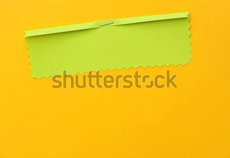 Papír címke közelkép kézzel készített természet ajándék Stock fotó © janaka