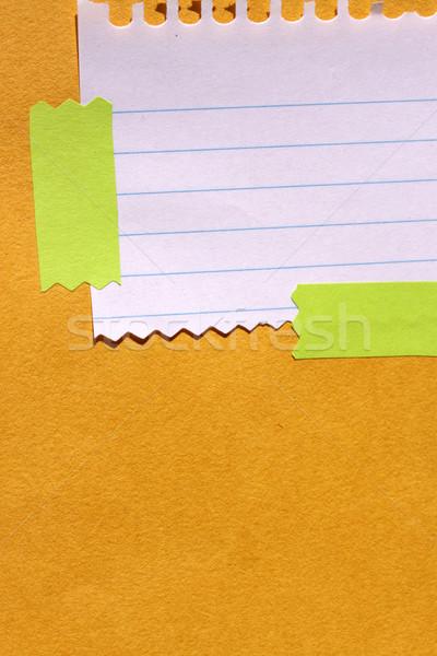 Levélpapír közelkép iroda papír iskola absztrakt Stock fotó © janaka