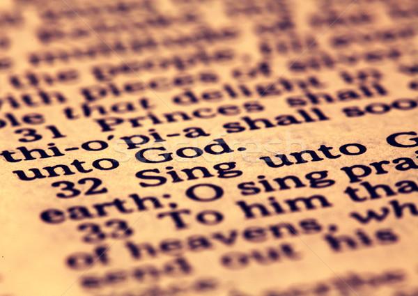 öreg szent Biblia közelkép könyvek Jézus Stock fotó © janaka