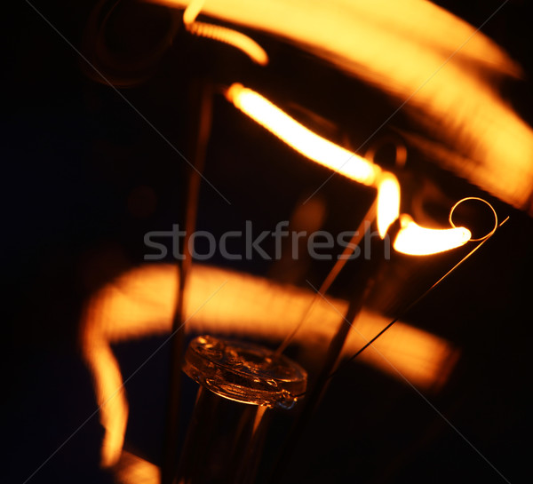 Tungsten ampul yangın soyut hızlandırmak Stok fotoğraf © janaka
