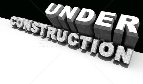 Construction mot 3D graphique travaux résumé Photo stock © janaka
