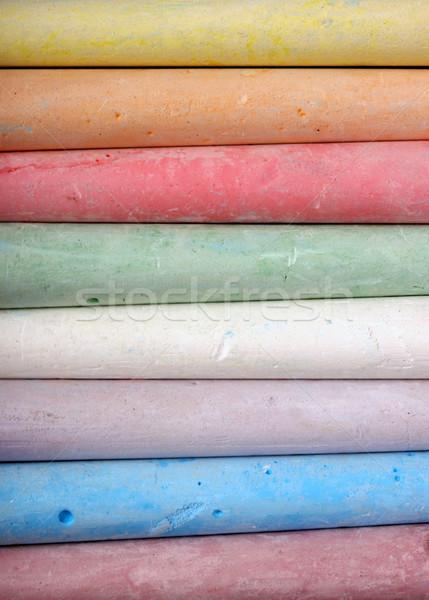 Kréta közelkép tarka iskola absztrakt festék Stock fotó © janaka