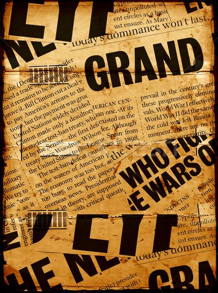 Novo papel manchetes jornal comunicação Foto stock © janaka