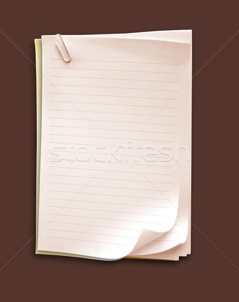 Nota livro gradiente papel escolas Foto stock © janaka