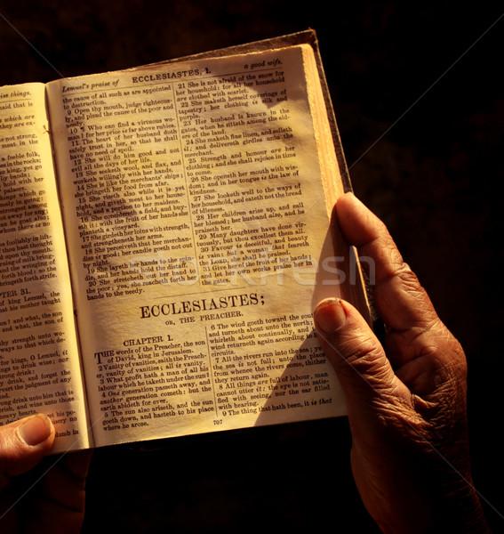 святой Библии антикварная Пасху книга Сток-фото © janaka