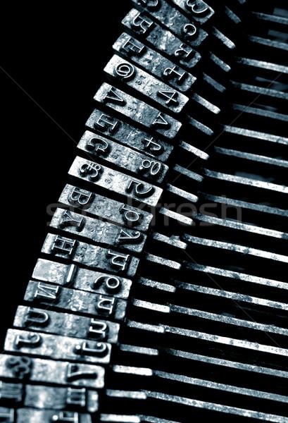 Edad máquina de escribir negocios oficina diseno Foto stock © janaka