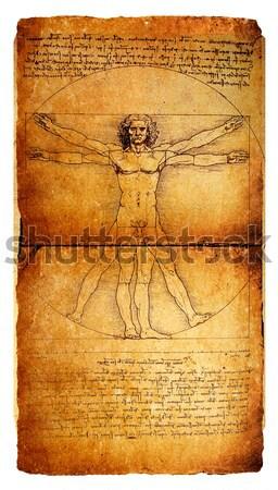 Vitruvian Man Stock photo © janaka