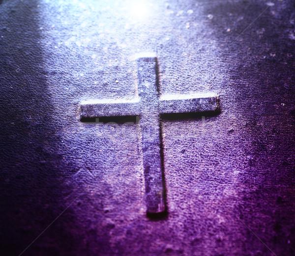 Szent Biblia közelkép öreg könyv húsvét Stock fotó © janaka